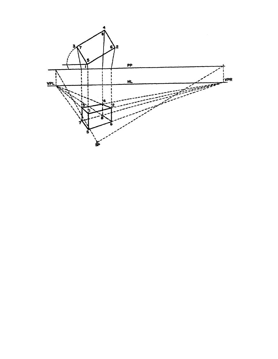 Plan Elevation Perspective View : Figure two point perspective drawing made without