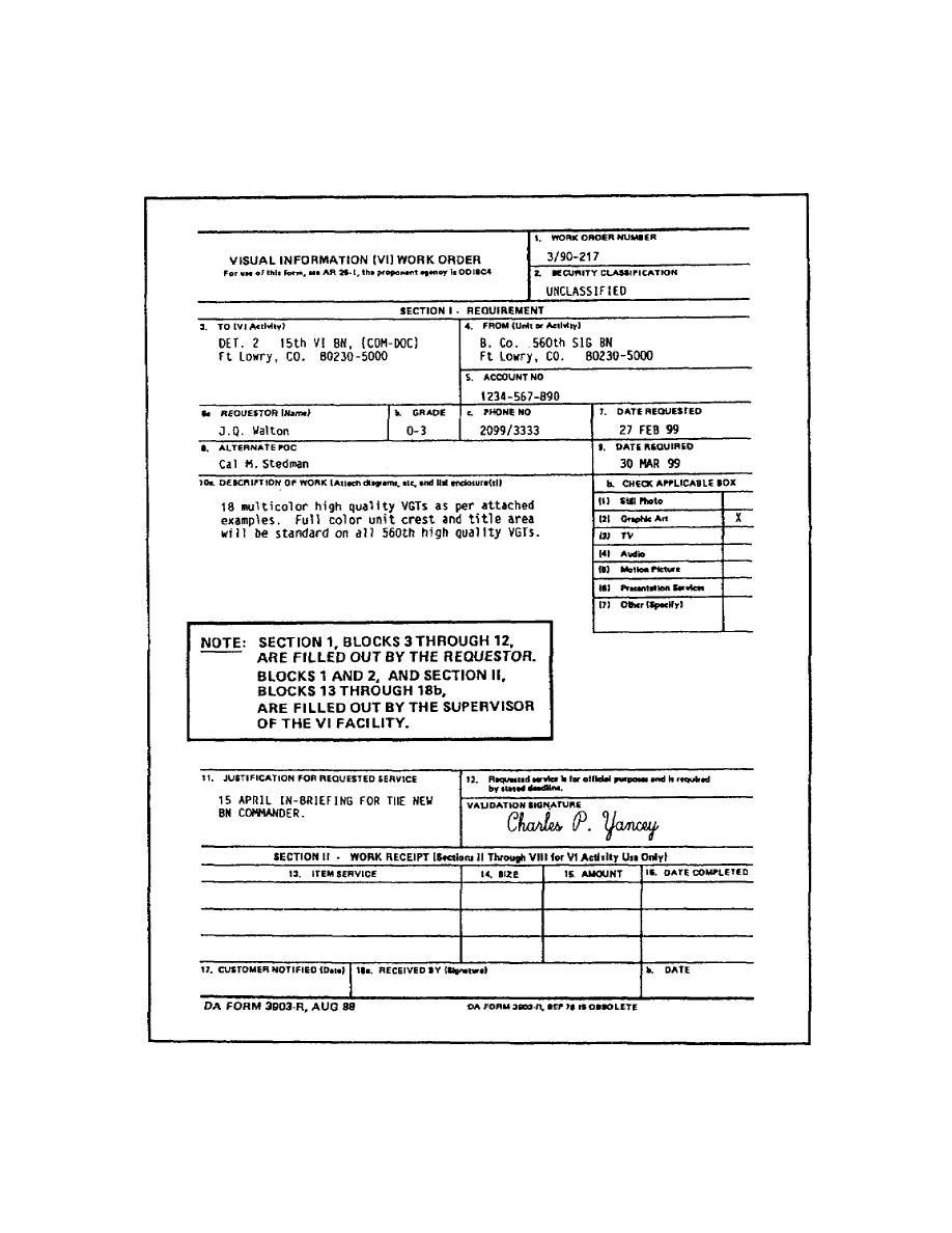 Figure 1 1 vi work order da form 3903 r back cont